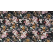Tricot Digital Print Flowers Barok