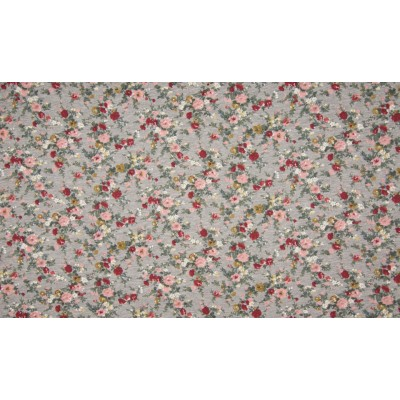 French Terry Flowers Mele Brushed