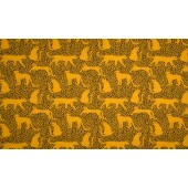 French Terry Print Leopard Ocre